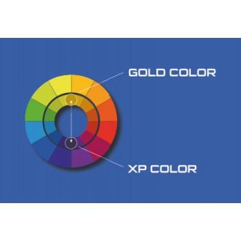 Massimo contrasto tra colore blu e oro